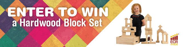 ECR4Kids Thanks-Giveaway: Win a Hardwood Block Set