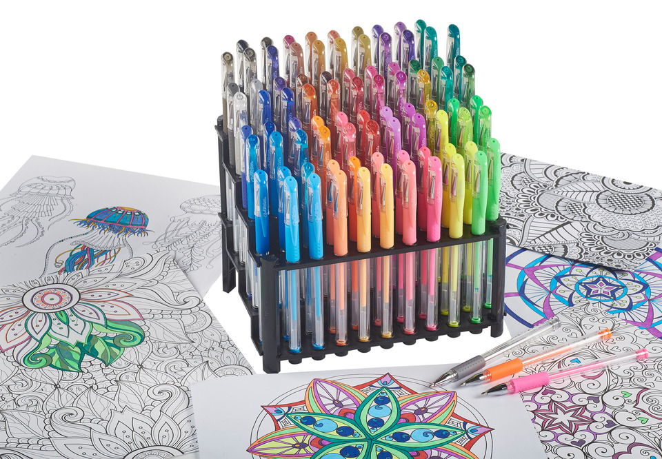 ELR-50102 84-Count Gel Pens in Artist Stands (1)