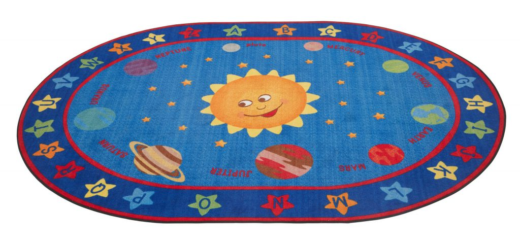 ecr4kids out of this world alphabet rug