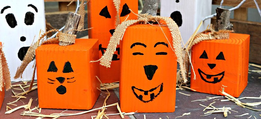 6 DIY Wood Block Crafts for Halloween Decor