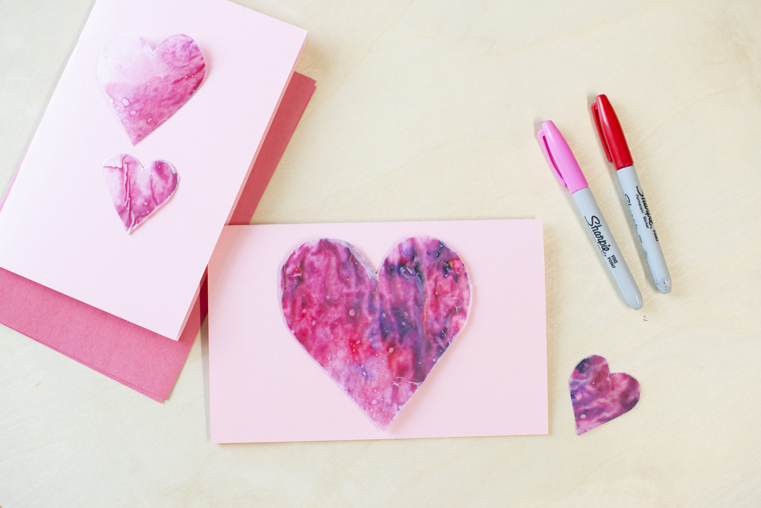 Valentine's Day Craft – Crayon Shaving Heart Card
